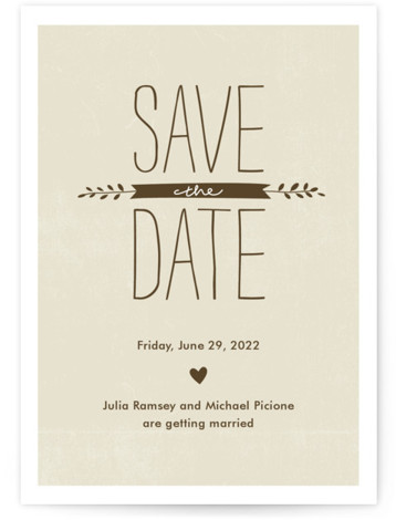 This is a portrait rustic, grey Save the Dates by Robin Ott called Quite Simply with Standard printing on Signature in Postcard Flat Card format. Smart and chic, our indie designed postcards let you announce your wedding date while saving ...