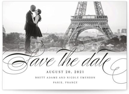 Clean Script Save the Date Postcards