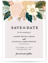 Classic Floral Save The Date Postcards