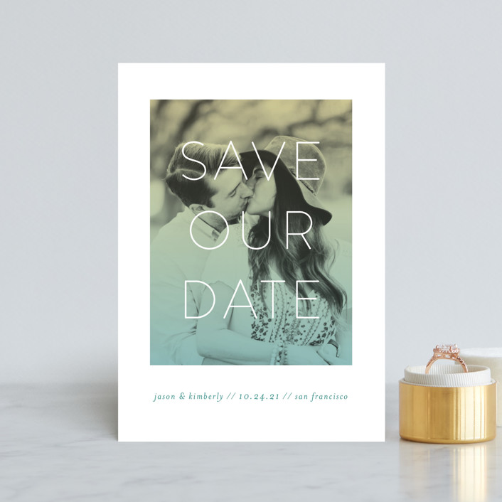 """Bright Future"" - Save The Date Postcards in Spring by Simona Camp."