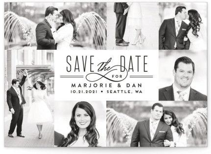 Thinline Gallery Save the Date Postcards