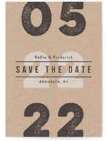 Cognac Save The Date Postcards
