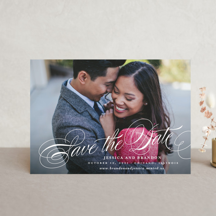 """Style"" - Save The Date Postcards in Cotton by Lauren Chism."