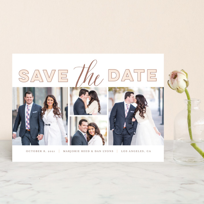 """""""Can't Just Pick One"""" - Modern Save The Date Postcards in Rose by Frooted Design."""