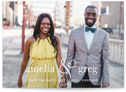 Two Become One Save the Date Postcards