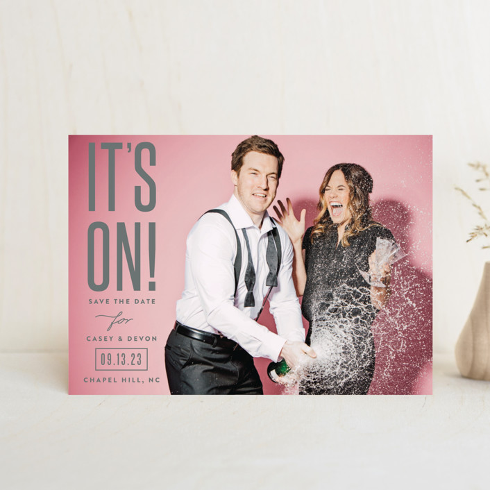 """it's on!"" - Save The Date Postcards in Frosting by Sara Hicks Malone."