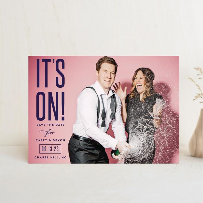 """""""it's on!"""" - Save The Date Postcards in Frosting by Sara Hicks Malone."""