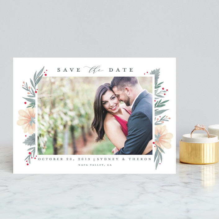 """""""Our Garden"""" - Save The Date Postcards in Natural by Petra Kern."""