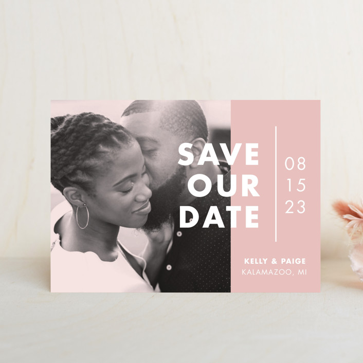"""Color Me Married"" - Save The Date Postcards in Dusted by Pixel and Hank."
