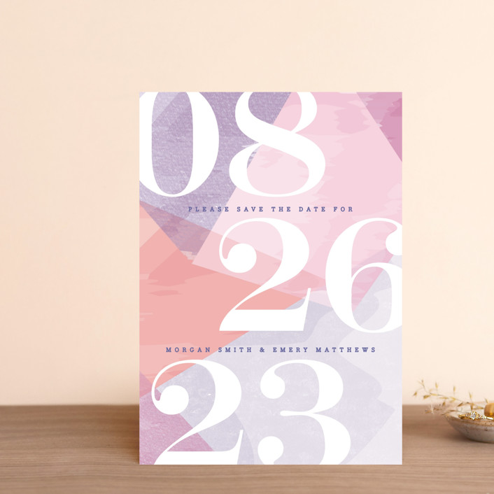 """""""wash of color"""" - Save The Date Postcards in Lilac by Karidy Walker."""