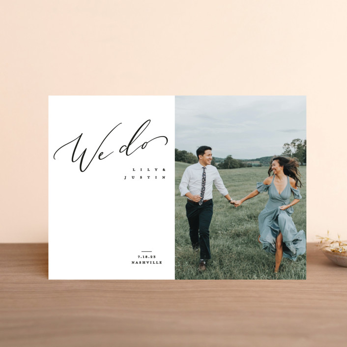"""Graceful"" - Save The Date Postcards in Lily by Owl and Toad."