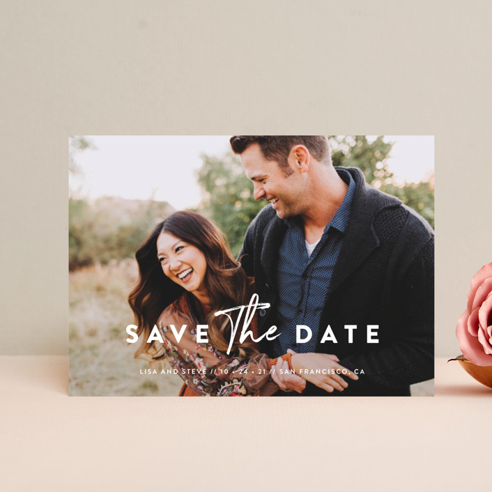 """""""Modern Classic"""" - Save The Date Postcards in Porcelain by Chryssi Tsoupanarias."""
