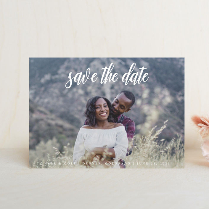 """""""mystic"""" - Save The Date Postcards in Flagstone by Kate Ross."""