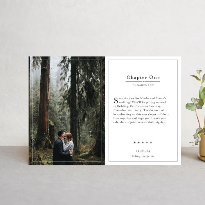 """Storybook"" - Save The Date Postcards in Snow by Becca Thongkham."