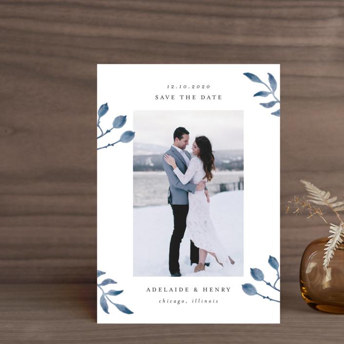 """""""Serenity"""" - Save The Date Postcards in Nigella by Lehan Veenker."""