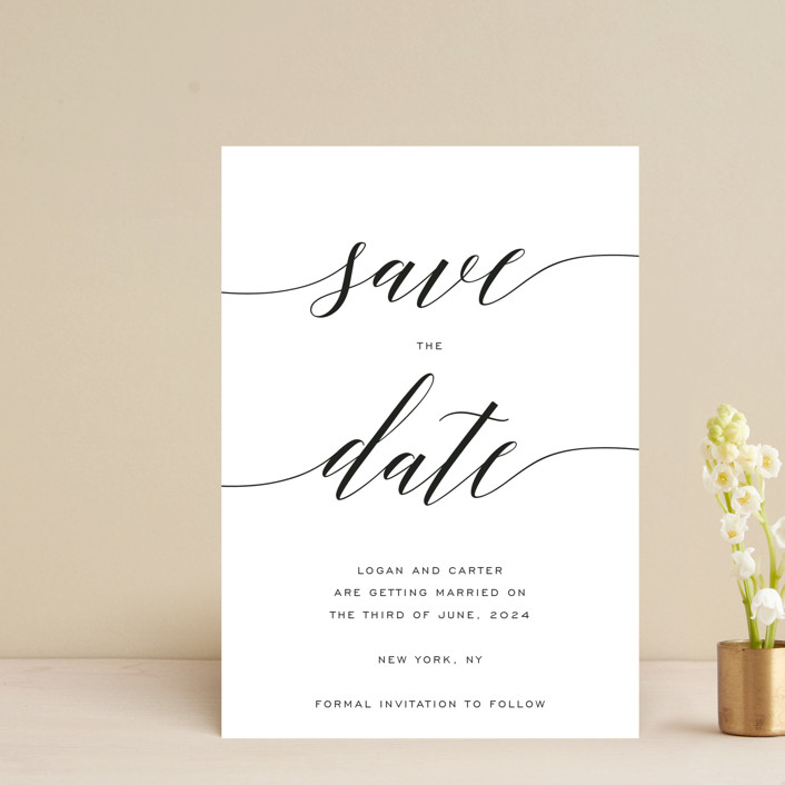 """""""Someone Like You"""" - Save The Date Postcards in Pearl by Design Lotus."""