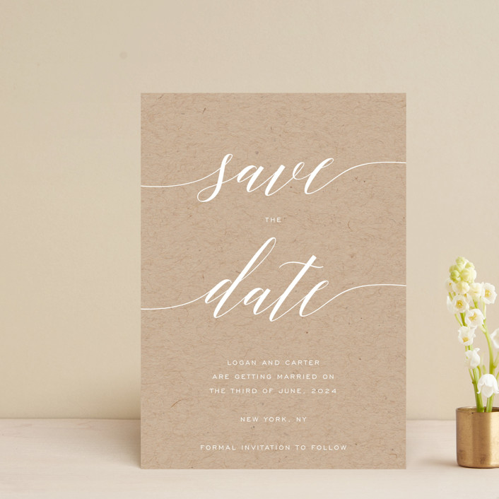 """Someone Like You"" - Save The Date Postcards in Pearl by Design Lotus."
