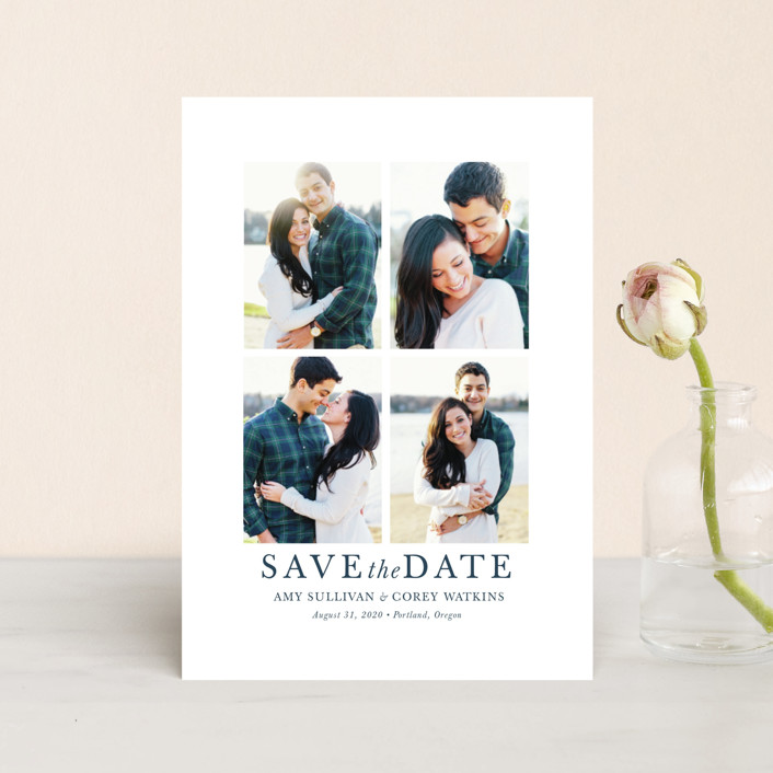 """""""make it merrier"""" - Save The Date Postcards in Midnight by Jula Paper Co.."""