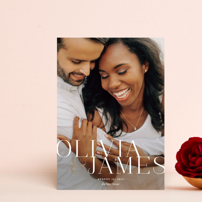 """""""This Couple"""" - Save The Date Postcards in Pearl by Lauren Chism."""