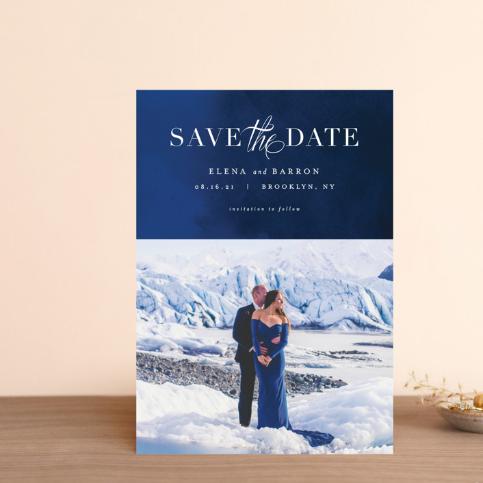"""Velvet"" - Classical, Formal Save The Date Postcards in Crimson by AK Graphics."
