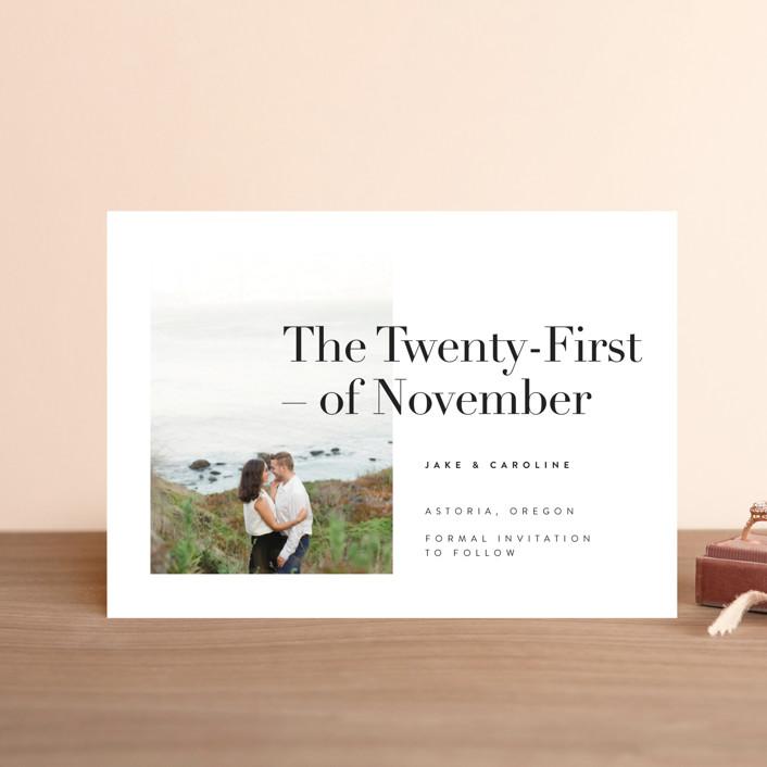 """Frankie"" - Save The Date Postcards in Ink by Karen Schipper."