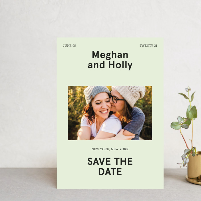 """""""Booklet"""" - Save The Date Postcards in Fern by Jack Knoebber."""