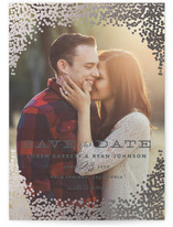 Gold Rush Foil-Pressed Save the Date Postcards