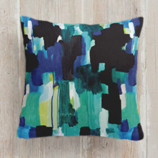 Waiting - Textile Square Pillow
