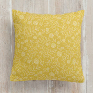 This is a white pillow by Olive and Me called Summer Prairie printing on premium cotton.