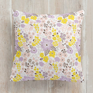 This is a purple pillow by Petra Kern called Gentle Blossom printing on premium cotton.