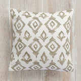 This is a brown pillow by Honeybunch Studio called Moroccan Diamonds printing on premium cotton.
