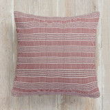 This is a classic colors pillow by Faiths Designs called Contemporary Stripe printing on premium cotton.