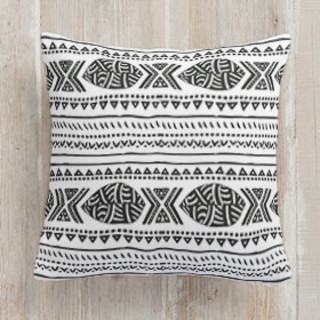 African Tribal Forest Square Pillow