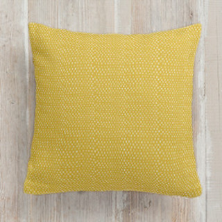 Yellow Triangle Square Pillow