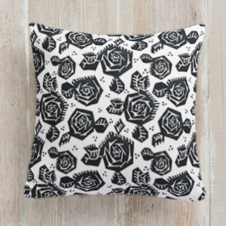 Tribal Rose Square Pillow