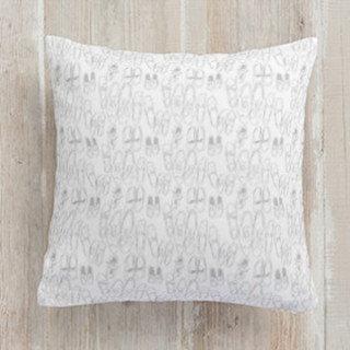Messy Shoes Square Pillow