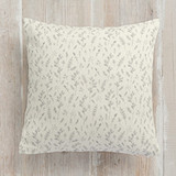 This is a ivory pillow by Erika Firm called Bud Branches printing on premium cotton.