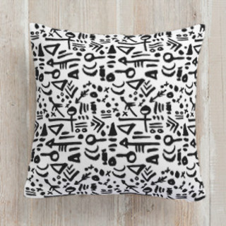 Tribal Tattoo Square Pillow