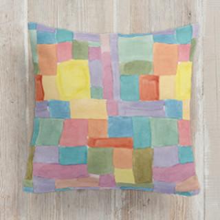 Patchwork Watercolor Square Pillow