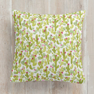 Prickly Pear Cacti Square Pillow