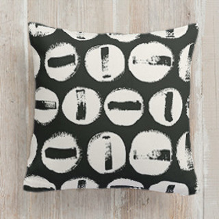 This is a ivory pillow by Carrie ONeal called Penny Thoughts printing on premium cotton.