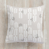 This is a white pillow by Ashlee Townsend called Modern Scandinavian printing on premium cotton.