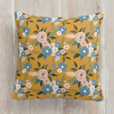 This is a blue pillow by Juliana Zimmermann called Vintage Floral printing on premium cotton.