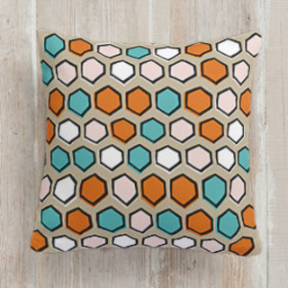 Bright Hexagons Square Pillow