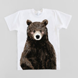 This is a white baby t shirt by Cass Loh called Baby Bear.