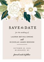 Classic Floral Save the Date Cards By Alethea and Ruth