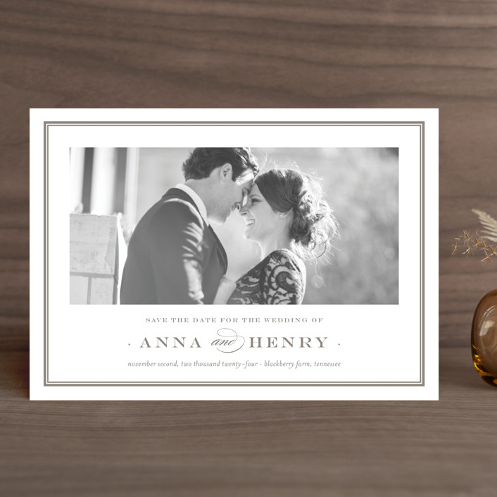 """Field"" - Save The Date Cards in Umber by Toast & Laurel."