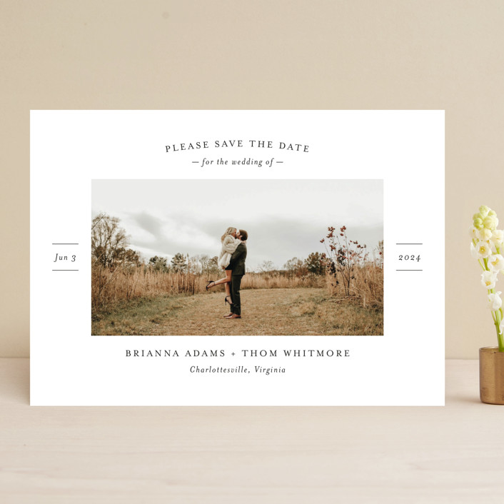 """More Than a Crush"" - Save The Date Cards in Ebony by Ann Gardner."