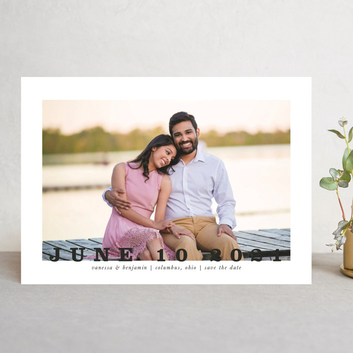 """""""Coupe"""" - Save The Date Cards in Ivory by Up Up Creative."""