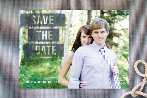 Ink Roll Save The Date Cards